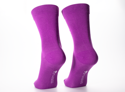 Bamboo Clothing & Accessories by Mabboo, Purple Dahlia x1 Pair Bamboo Socks, M_Socks