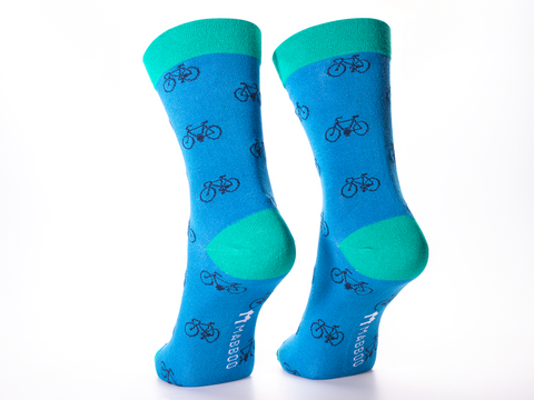 Bamboo Clothing & Accessories by Mabboo, Cendre Blue, Arcadia Bikes x1 Pair Bamboo Socks, M_Socks