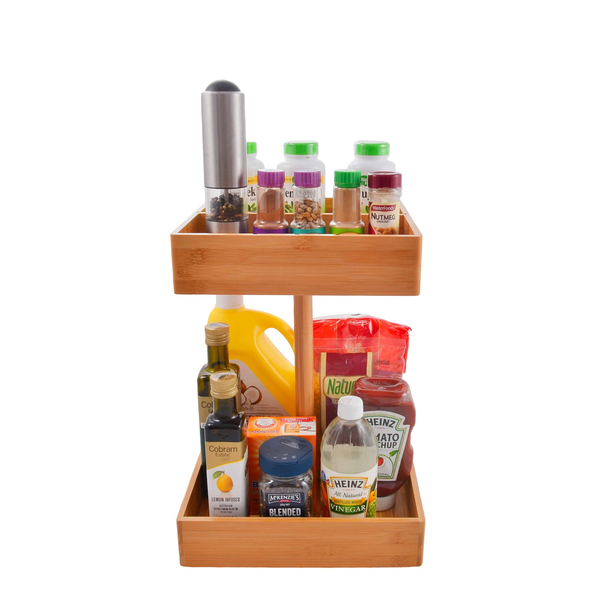 Refine Bamboo Kitchen and Snack Organizer