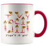 11oz Mug (White Accent) - Yogat it Girl