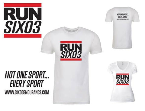 """RUN SIX03"" Old School Hip Hop T-Shirt"