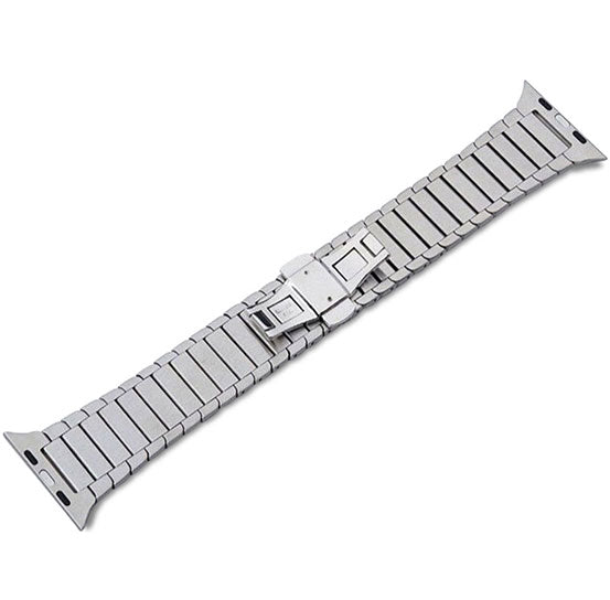 Steel Link Band for Apple Watch, Stainless Steel Bracelet Replacement Strap