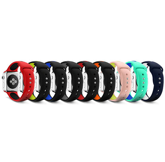 Dual-Tone Band for Apple Watch, Silicone Bracelet Replacement Strap
