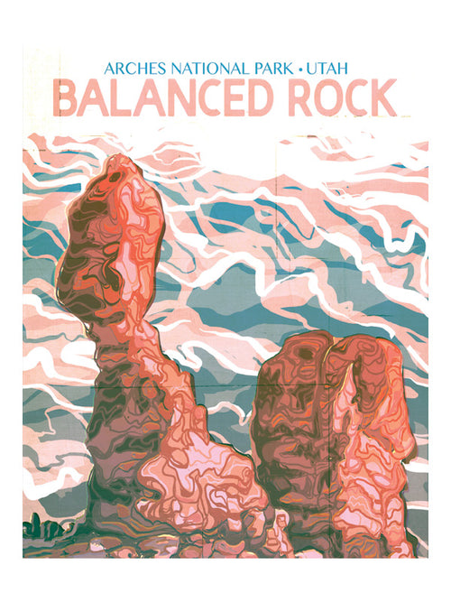"""Balanced Rock"" National Parks Art Print by MIK"