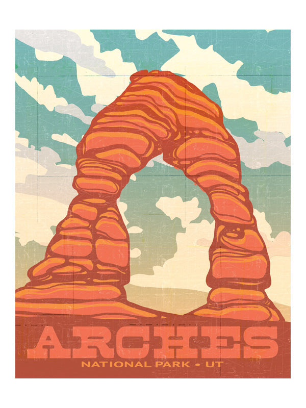 """Delicate Arch"" National Parks Art Print by MIK"