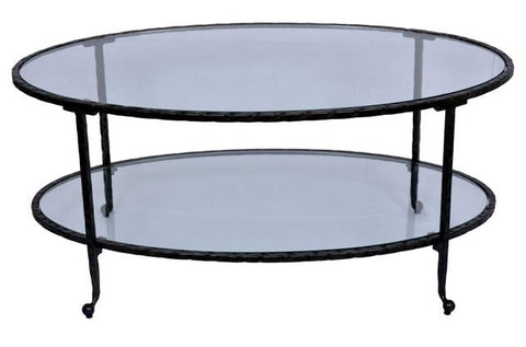OVAL COFFEE TABLE - Dark Bronze