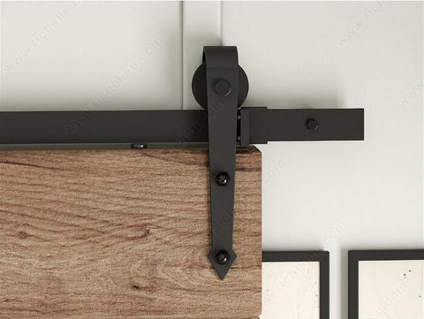 American Arrow Style Black Rustic Sliding Barn Door Hardware Sliding TrackMany Size For Selection