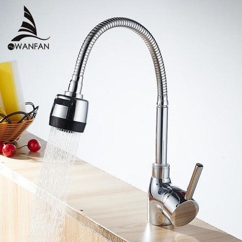 Frap Arrival 7Color Silica Gel Nose Any Direction Rotation Kitchen Faucet Cold Hot Water Mixer Torneira Cozinha F4153