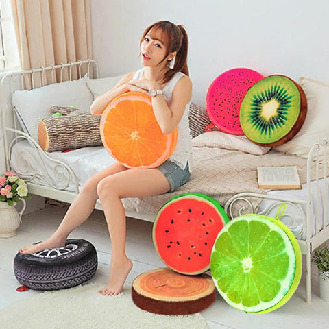 40Cm/33Cm 3D Fuite Cushion Fruit Pp Cotton Office Chair Back Cushion Throw Pillow Home Decoration Gift Cushion Pillow Seat