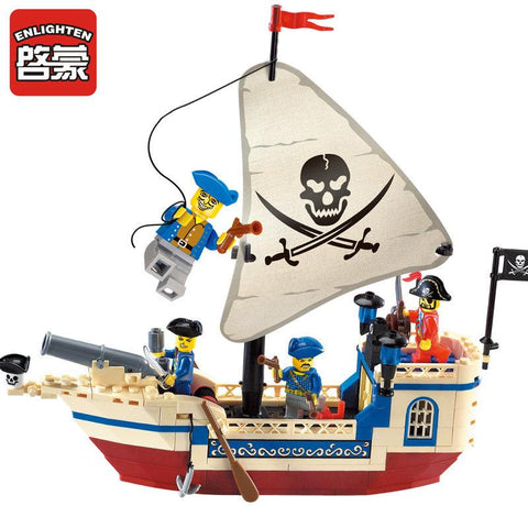 Enlighten 304 Pirates Of The Caribbean Brick Bounty Pirate Ship Building Blocks Christmas Gifts For Kids
