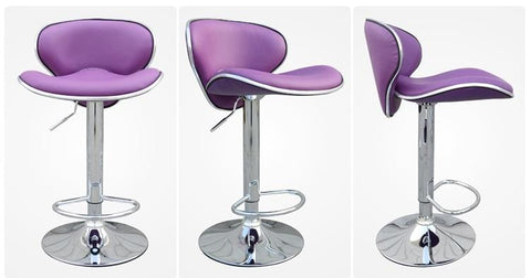 Dining Hall Chair Restaurant Purple Color Stool Bar Coffee House Chair