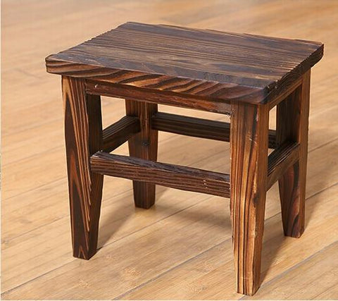 100% Wooden Dinging Stoolwood Furnituregarden Style Stoolbathroom Chairantique Furniturewood Chairwaiting For The Stoolc