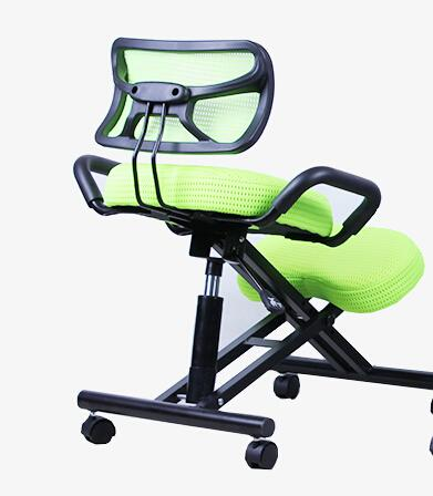 Ergonomically Designed Knee Chair W/ Back Handle Mesh Fabric Caster Office Kneeling Chair Ergonomic Posture Chair Office