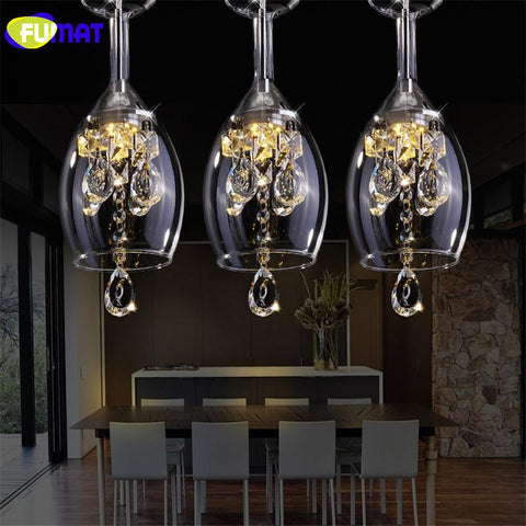 K9 Crystal Led Wineglass Chandelier Modern Creative Spiral Suspension Lighting Restaurant Villa Lobby Hanging Luminaire