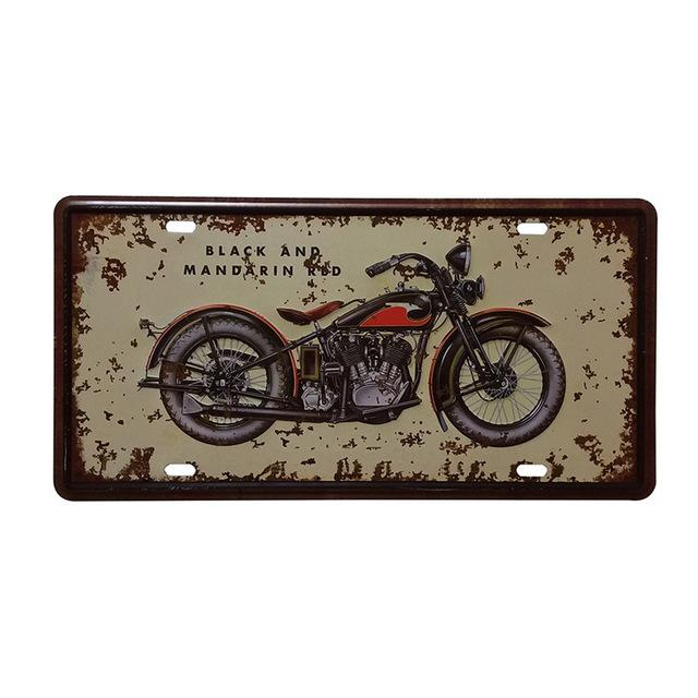 Shabby Chic Retro Motorcycle Commercial Painting Vintage Car Tin Plate Tin Sign Bar Pub Home Wall Decor Metal Postr 30X15Cm A547