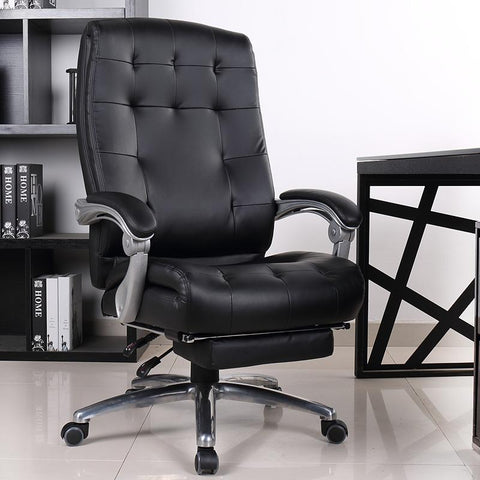 Comfortable luxury genuine leather chair leisure home 170 degree lying office computer chair rotating lifting boss chair