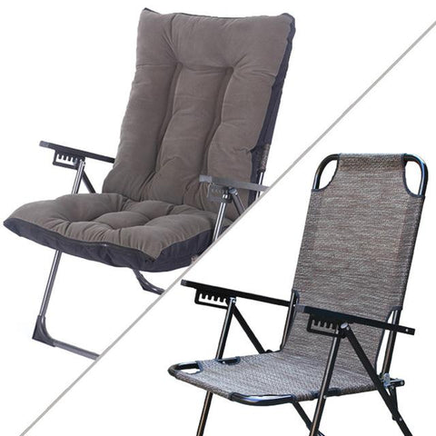 High Quality Comfortable Lazy Chair Backrest Folding Chair W/ Adjustable Household Computer Office Chair Lying