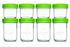 Baby Food Glass Containers by NellamBaby - Set of 8 (multi-pack, 4oz. + 8oz.)