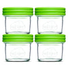 Baby Food Glass Containers by NellamBaby - Set of 4 (4 Oz.)