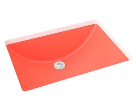 coral undermount bathroom sink