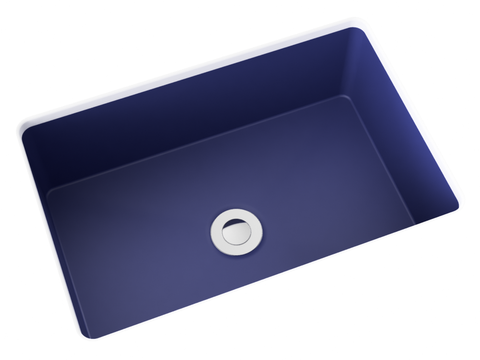 cobalt blue small undermount bathroom sink