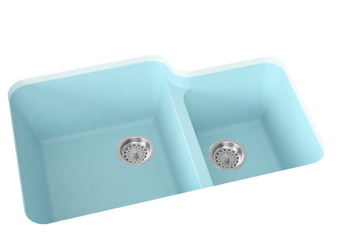silver grey double basin kitchen sink
