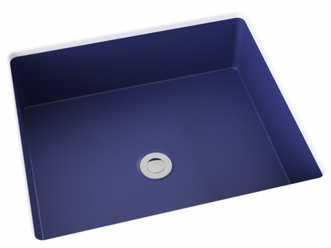 cobalt blue flat bottom undermount bathroom sink