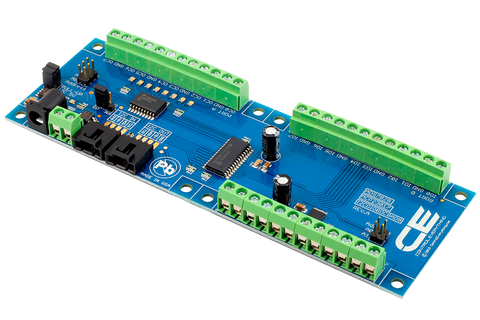 8-Channel Open Collector GPIO 12-Bit ADC I2C Interface