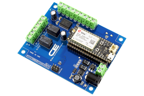 Relay Shield for Particle Electron I2C 2-Channel SPDT 1-Amp with Cellular and USB Interface + 6 Programmable GPIO