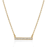 Diamond bar necklace in 14k yellow gold