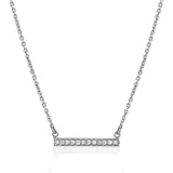 Diamond bar necklace in 14k white gold