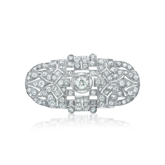 Art Deco style diamond pin