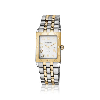 Raymond Weil gents Rectangular two-tone Tango watch
