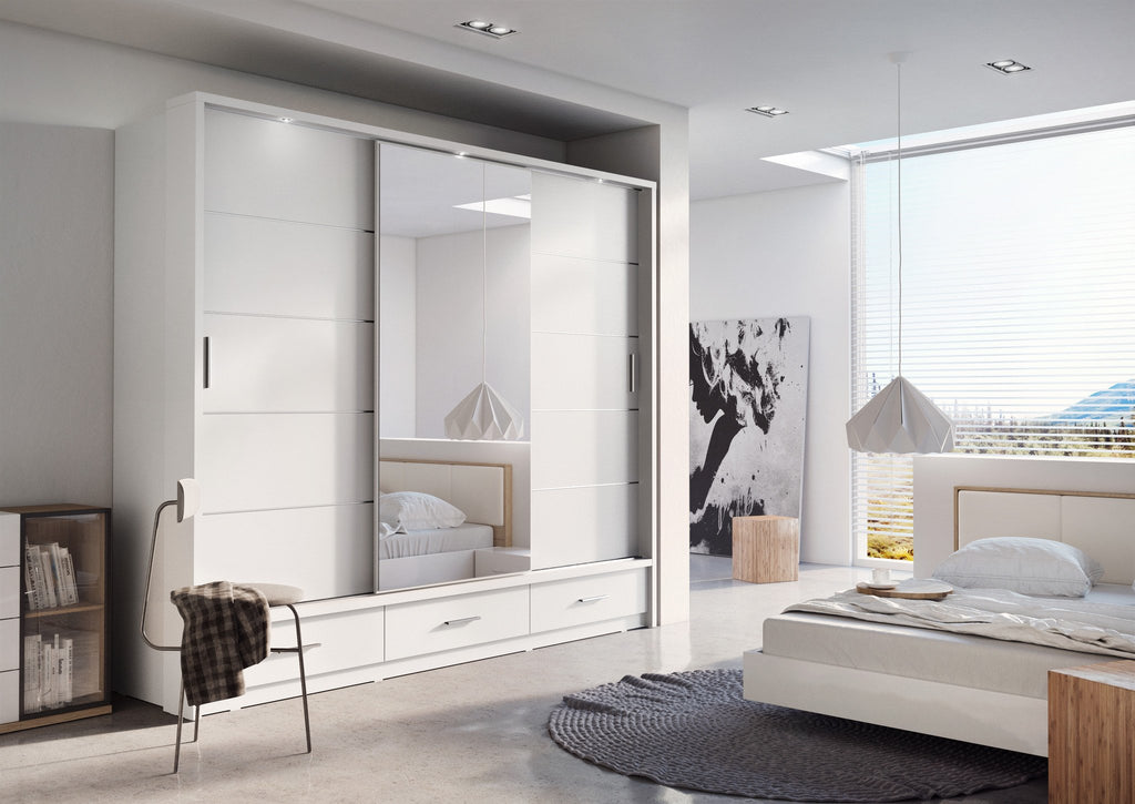 Arti 1 White 3 Sliding Door Wardrobe 250cm