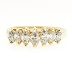 14K Marquise Diamond Band