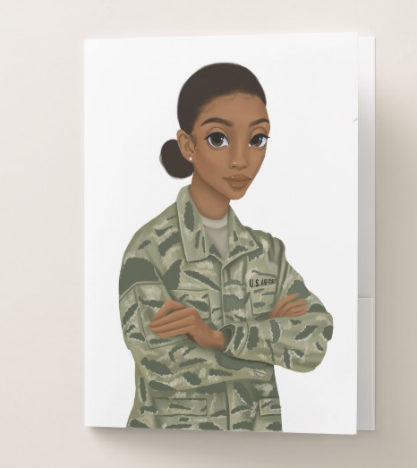 Air Force Female Pocket Folder
