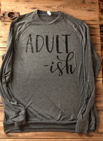 Adult-ish long sleeve lightweight sweater -  winter clearance sweater - 15 dollar sweaters - Ok Yankee Girl