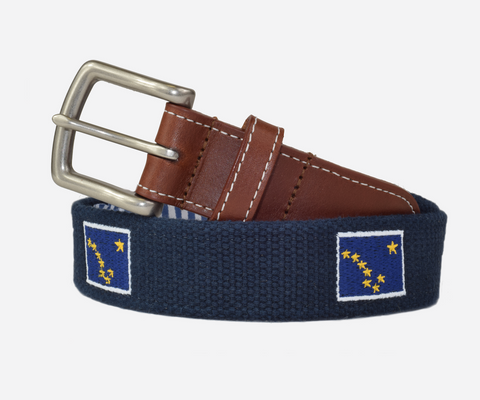 Alaska State Flag Belt (patriot navy)