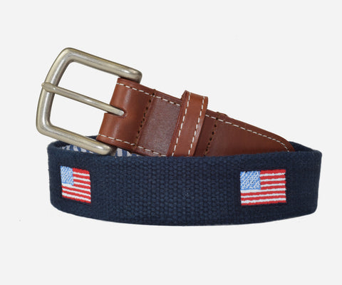 American Flag USA Belt (patriot navy)