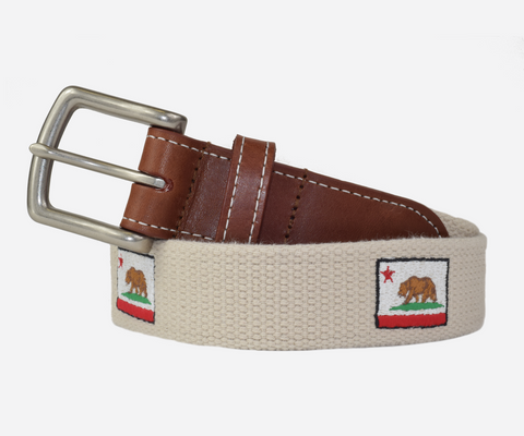 California State Flag Belt (stone)