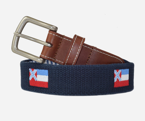 Mississippi State Flag Belt (patriot navy)