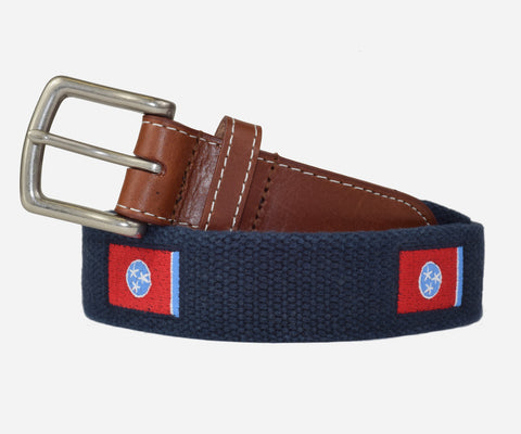 Tennessee Flag Belt (patriot navy)