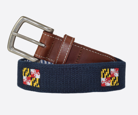 Maryland State Flag Belt (patriot navy)