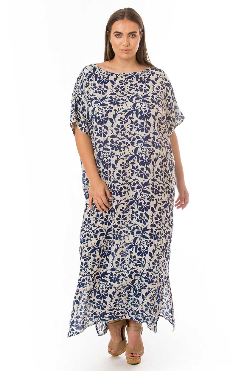 Comfy Blue Cover Up Maxi Dress