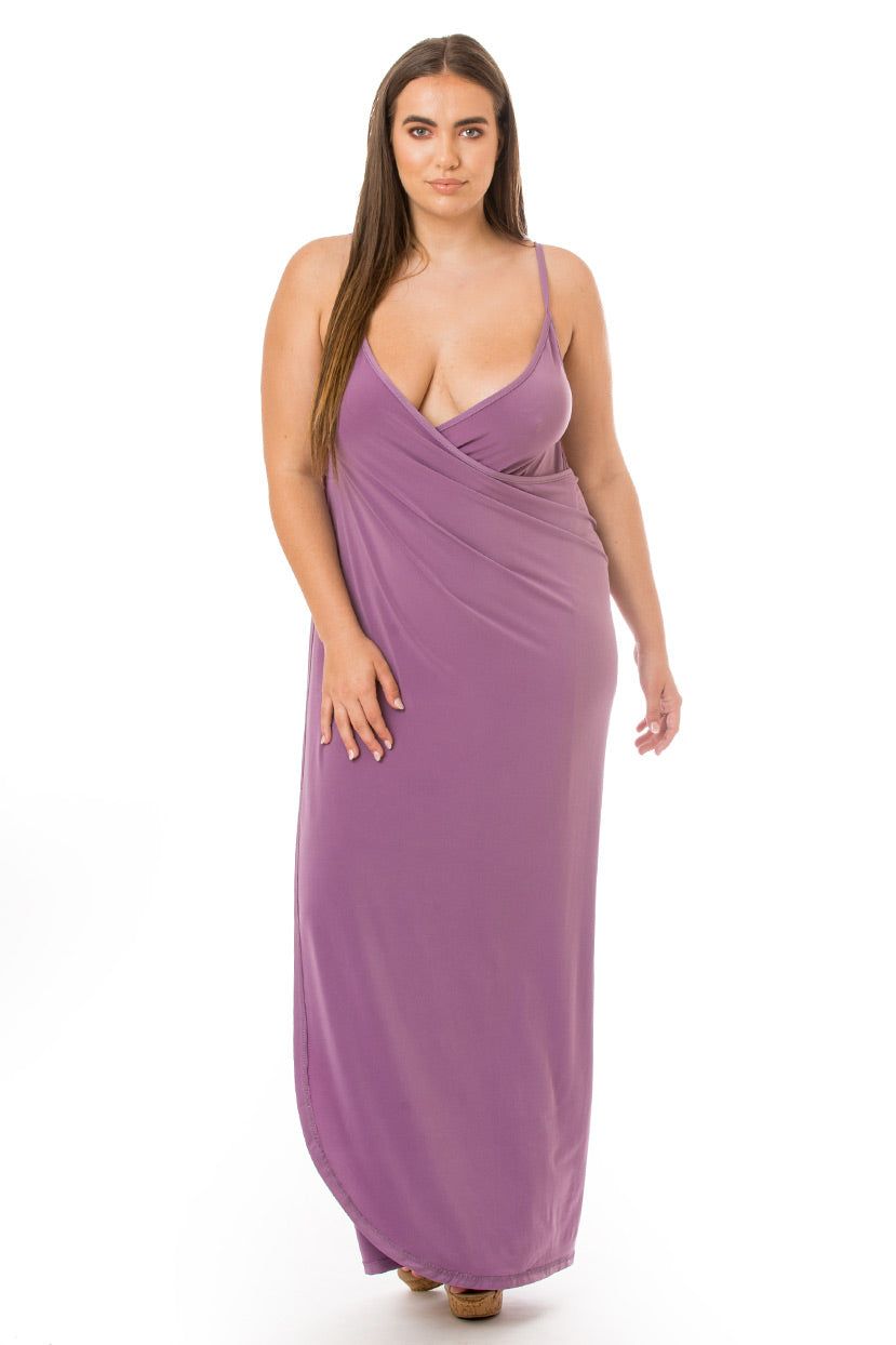 Plunge Cover Up Maxi Dress