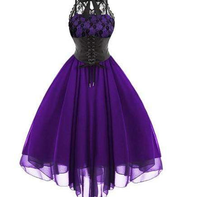 Gothic Bow Vintage Corset Dress
