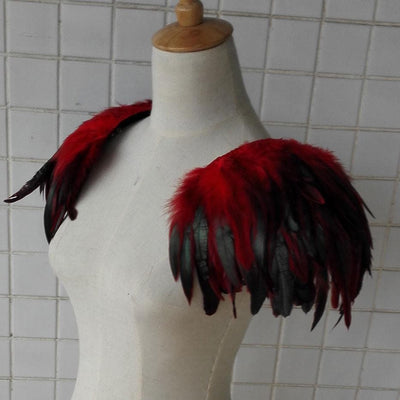 Handmade Feather Shoulder Epaulettes