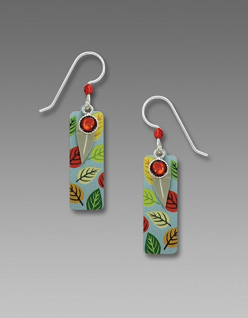 7812 Column multi colored leaf Earrings by Barbara MacCambridge - © Blue Pomegranate Gallery