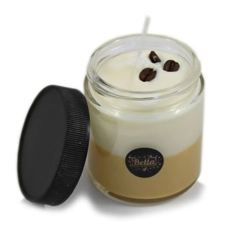 Bean Palace 4 oz. Vanilla Soy Candle in glass jar - © Blue Pomegranate Gallery