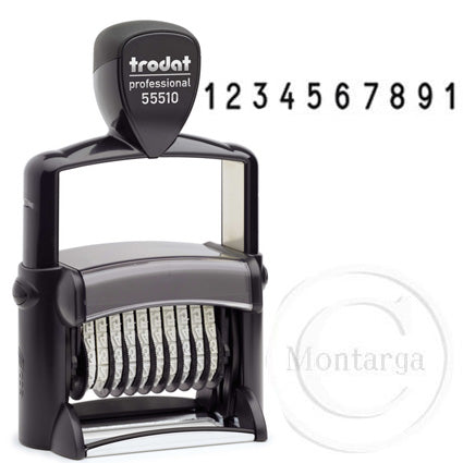 10 Bands - 5mm High 55510 Trodat Self Inking Stamp